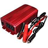 BESTEK® 2 AC Outlets 1000W Power Inverter DC 12V to AC 110V Car Inverter Power Supply DC Adapter Laptop Charger Notebook Adapter DC charger AC Adapter with Battery Clamps and Car Cigarette Lighter Plug