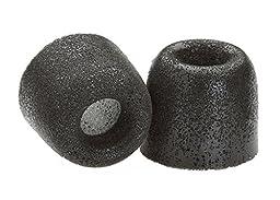Comply Premium Replacement Foam Earphone Earbud Tips - Isolation Plus Tx-400 (Black, 3 Pairs, Medium)