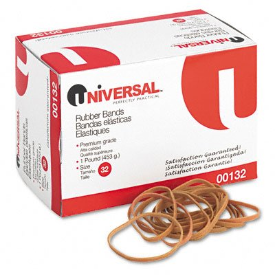Rubber Bands, Size 32, 1/8 x 3, 740 per 1lb Box