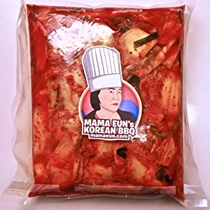 Kimchi - Authentic Korean Pickled Cabbage - Fresh 1 Lb - Salelimited Time by Mama Eun's Korean BBQ