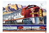519BJ6VC3KL. SL160  Canvas Print, Santa Fe Locomotive   42 x 28 ..Buy This