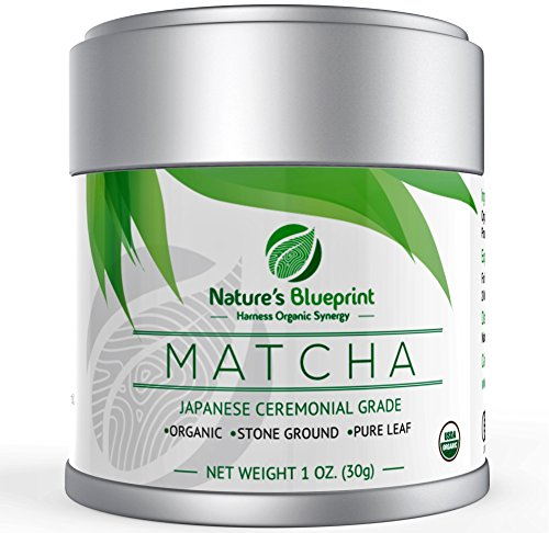 Matcha Green Tea Powder-Organic Japanese Ceremonial Grade Straight from Uji Kyoto, Premium Quality-1 oz Tin contains Powerful Antioxidant Energy for Non-GMO Health & WeightLoss.