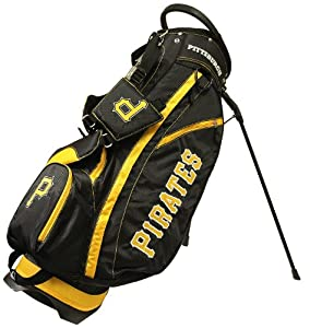 MLB Pittsburgh Pirates Fairway Stand Golf Bag, Black by Team Golf