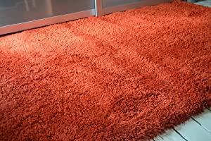 Henley Super soft rug. Terracotta Rust deep pile. 160x230cm Superb Quality