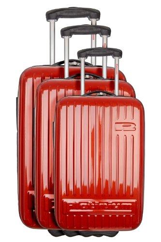 Broadway - Set de 3 valises 2 roues rouge