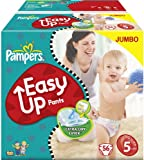 Pampers Easy Up Size 5 (26-40 lbs/12-18 kg) Training Pants - 2 x Jumbo Packs of 56 (112 Training Pants)