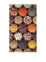 Huella deco Felpudo de Vinilo (Negro/Multicolor)