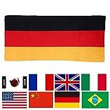 超吸水 マイクロファイバー 国旗 バスタオル フェイスタオル スポーツ 観戦 応援 タオル ( ドイツ 75×35 )