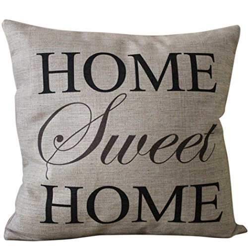 Square Pillow Cover Cushion Case Toss Pillowcase(