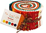 Pat Sloan Sweet Life Batiks Jelly Roll 40 2.5-inch Strips Moda Fabrics 43057JR