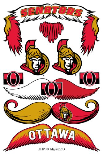 StacheTATS Ottawa Senators Temporary Mustache Tattoos