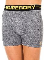 Superdry Pack x 2 Bóxers (Gris Jaspeado / Negro)