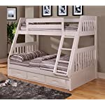 American Furniture Classics Twin Over Bunk Bed with 3 Drawers, Normal, White
