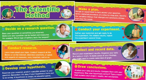 Scholastic Teacher's Friend Scientific Method Mini Bulletin Board, Multiple Colors (TF8091) (Scientific Method Chart compare prices)