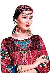 Jcm Krishriyaa Red Cotton Cambric Printed Kurti L Size