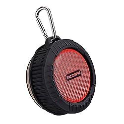 Waterproof Outdoor/Shower Speaker VicTsing Phoenix Wireless Bluetooth 4.0 Portable Speaker w/ 10 Hours Playing Time 5W Strong Speaker for Outdoors/Shower