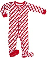 "Leveret Footed ""Red & White"" Pajama Sleeper 100% Cotton (Size 6M-5T)"