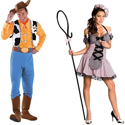 Woody and Mistress Peep Adult Couples Costume Size:Small/Extra Large