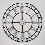 Roman Numeral Wall Clock with Clear Acrylic Beads 28
