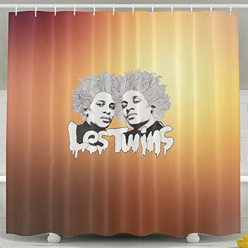 Memoy Les Poster Twins Mildew Resistant Bathroom Shower Curtain For Home Traval Hotel With Hooks 7272inch