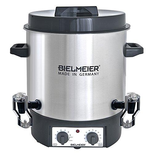 495500 Einkoch und Glühwein-Vollautomat, 27 L, 2 x 3/8 Zoll Push-Kunststoff-Auslaufhahn, 1800 W, BHG 495.5