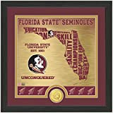 "NCAA Florida State Seminoles ""State"" Bronze Coin Photo Mint, 18 "" X 14"" X 3"", Bronze"