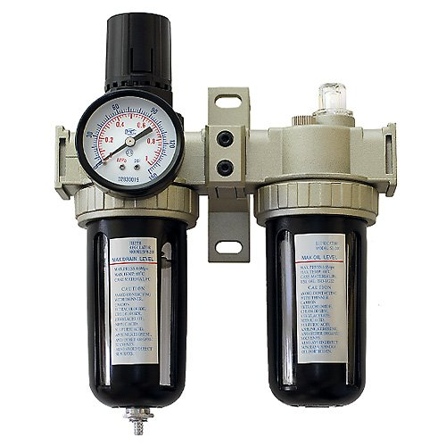 Combo Regulator Water Filter and Inline Air Line Oil Lubricator