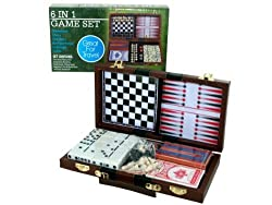 6 in 1 Travel Game - 4 pack