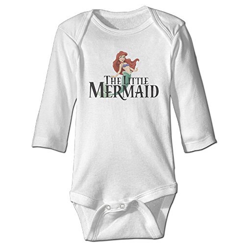 The Little Mermaid Poster Funny For Baby Climbing Long Sleeved Clothing White