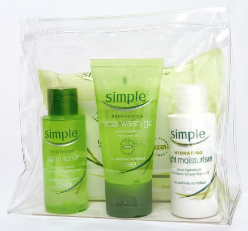 Simple Travel Bag  - Containing Moisturiser,