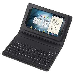 "KLAREN Wireless Bluetooth Keyboard + Leather Case Stand for 7"" Samsung Galaxy Tab P3100, P3110, P6200, P6210"