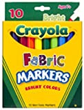 Crayola 10-Pack Fabric Markers