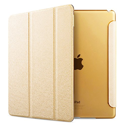 iPad Air 2 Case Folio Case Stand Case Smart Cover (gloden)
