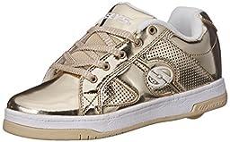 Heelys Split Chrome Skate Shoe (Toddler/Little Kid/Big Kid), Gold, 8 M US Big Kid