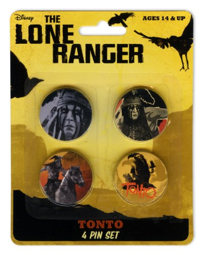 Disney The Lone Ranger Tonto 4 Pin Set