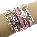 Infinity Leather Multilayer Handmade Braided Bracelet