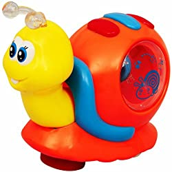 Singing Snail With Flashing Lights And Sound - Orange