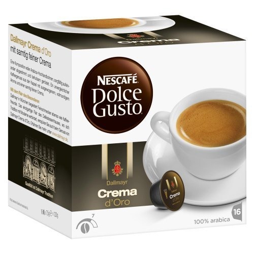 Nescaf¨¦ Dolce Gusto Dallmayr Crema d¡äOro, 16 Capsules by Yulo Toys Inc