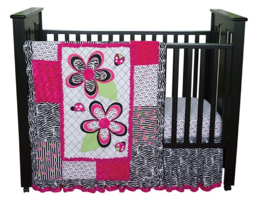 Trend Lab 3 Piece Crib Bedding Set, Zahara (Crib Bumper Zebra compare prices)