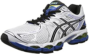 ASICS Men's Gel-Nimbus 16 2E Running Shoe,White/Black/Royal,10.5 2E US
