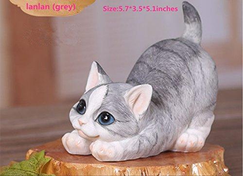 smkf Statuetta in resina Gatto Adorabile animale ornamenti cute Home Decorazioni.