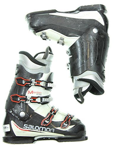 Used Salomon Mission R70 Black Intermediate Ski Boots Men Size 9.5 - Mondo 27.5
