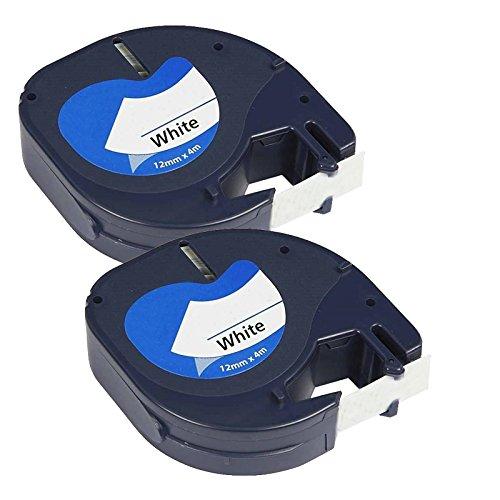prestige-cartridge-91201-lot-de-2-rubans-pour-etiqueteuse-dymo-letratag-12-mm-x-4-m-noir-sur-blanc