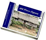 Photo Jigsaw Puzzle of Thatched homes along the river