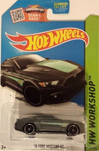Hot Wheels Ford Mustang GT - New 2015 HW Workshop 247/250 Car Model Collection - Rare Collector (Hot Wheels New For 2015 compare prices)