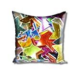 Athom Trendz Premium Shooting Stars Cushion Cover- 40cmx40cm (1.00)