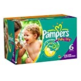 Pampers Baby Dry Diapers Economy Plus Pack, Size 6, 128 Count ~ Pampers