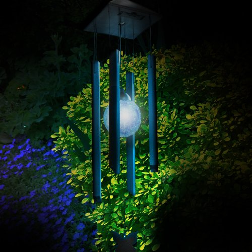 Colour Changing Solar Powered Wind Chime Light