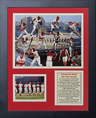 Legends Never Die Cincinnati Reds Greats Framed Photo Collage, 11 by 14-Inch
