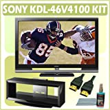 Sony Bravia V-Series KDL-46V4100 46-inch 1080P LCD HDTV and Accessory Outfit Outfit With Stand & 3 Y
